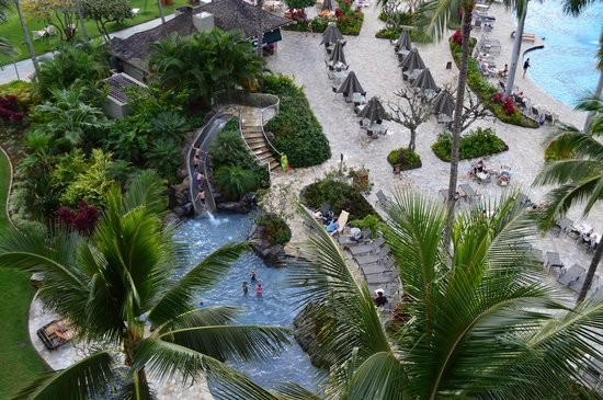 Marriott's Kaua'i Beach Club: Kids pool with slide