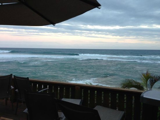 Villa Tropical Oceanfront Apartments on Shacks Beach:                                     Early morning view from TR