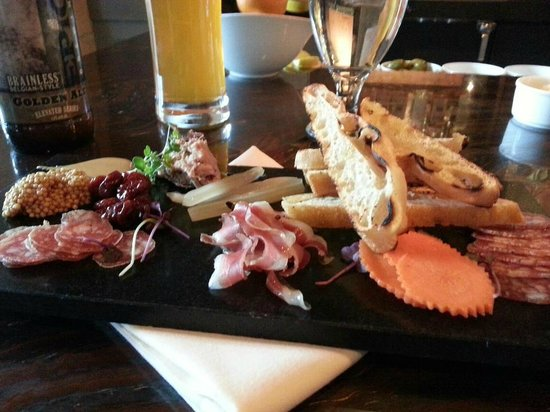 The Farm:                   Charcuterie board with a great Epic brew.