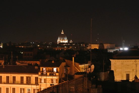 Hotel Fiori :                   St Peters, from the roof top terrace