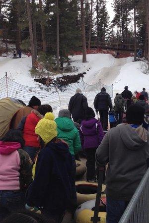 Ruidoso Winter Park:                   Waiting to go up the Magic Carpet