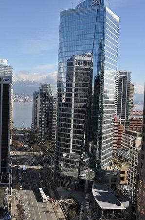 Hyatt Regency Vancouver: View of water from room 2201