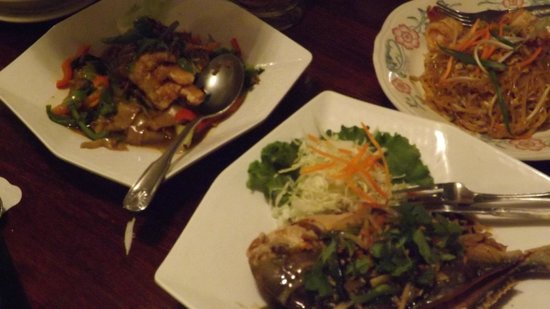 Entrees at Lotus of Siam