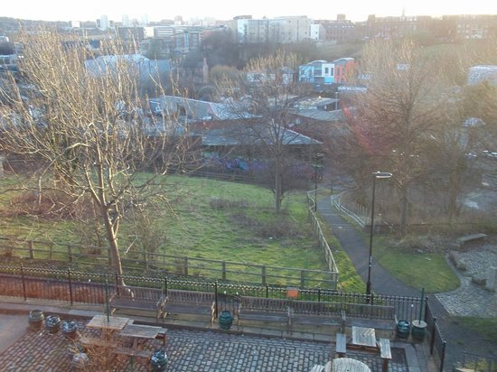 The Cumberland Arms B&B:                   View of Ouseburn valley from our room