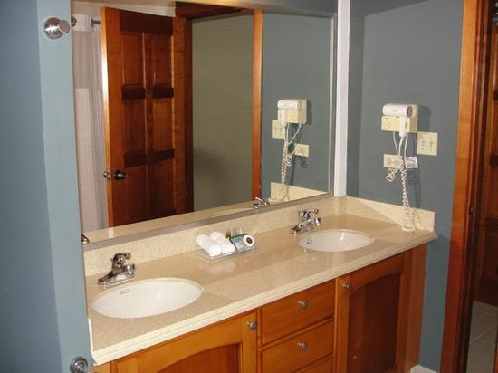Tropical Suites Hotel:                   Spacious bathroom