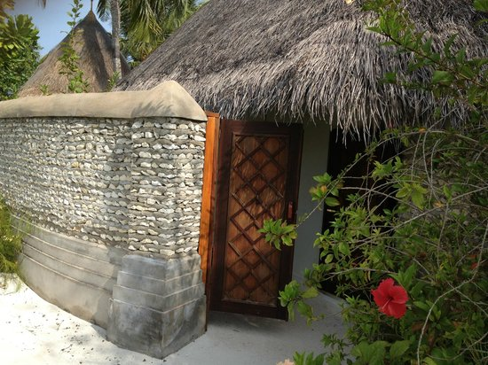 Four Seasons Resort Maldives at Kuda Huraa:                   Entrance to my bungalow.