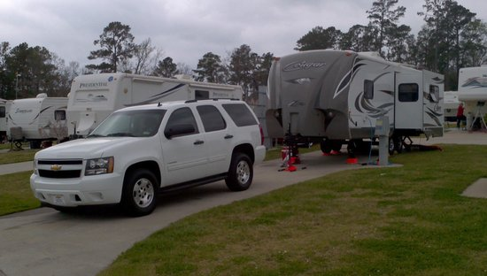 Northshore RV Resort on Lake Livingston:                   Our camp site