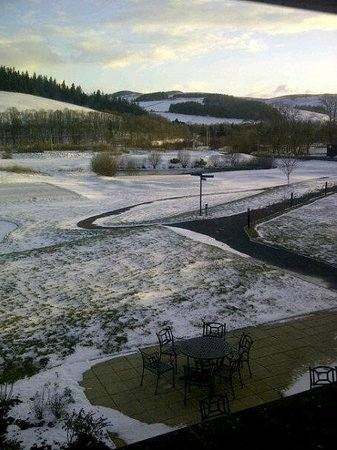 Macdonald Cardrona Hotel, Golf & Spa:                   Snowy golf course