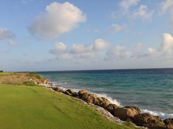 Santa Barbara Beach & Golf Resort, Curacao:                   Pete Dye designed course is windy but great.