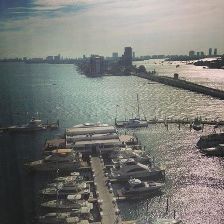 Miami Marriott Biscayne Bay: view from 12th floor to the Bay