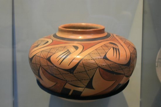 Museum of Northern Arizona: Just one example of the Native American pottery on exhibit at the museum.