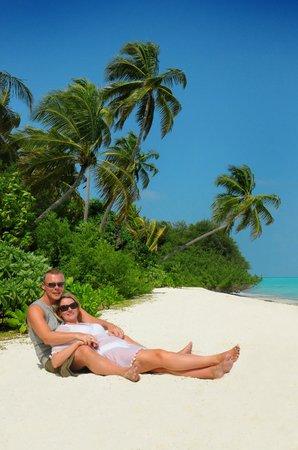 Kuramathi Island Resort: Photo shoot for honeymoon