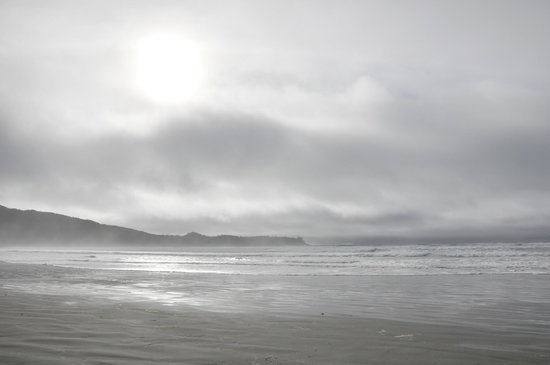 Pacific Sands Beach Resort:                   Wonderful stormy beach walk
