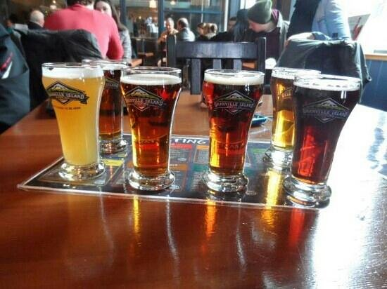 Granville Island Brewing:                   all the different kinds we tasted
