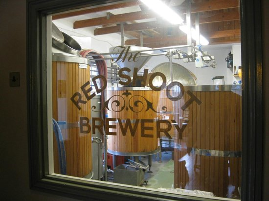 The Red Shoot:                   What's better than an in house brewery !?