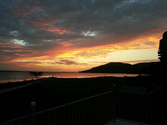 La Casa De Don David :                                     Sunset from the lake viewing platform