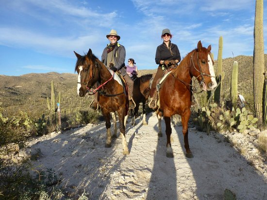 Tanque Verde Ranch:                   Beautiful sunset ride in the surrounding Saguaro covered hills