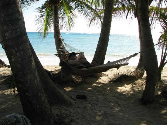 Little Corn Beach and Bungalow:                   Hammock Time