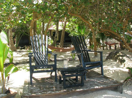 Little Corn Beach and Bungalow:                   Chillaxin Chairs
