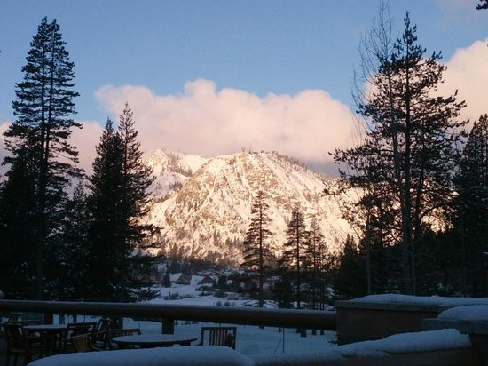 Resort at Squaw Creek:                                                       looking at squaw, right after the sun came