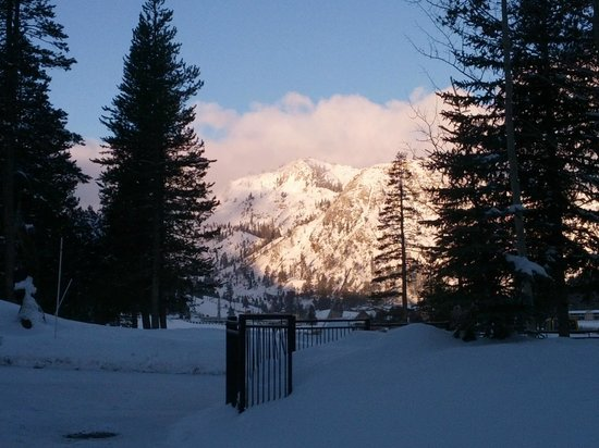 Resort at Squaw Creek:                                                       looking at the ski resort