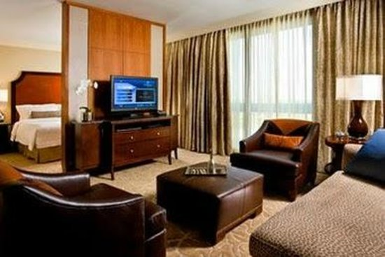 The St. Regis Houston:                   Another view if the room from the sitting area. Great for casual business meet