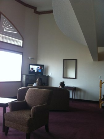 Comfort Inn & Suites Medicine Hat: Television and gas fireplace