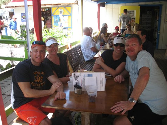 Beachwalk Charters Two Fish Flying: Gary,Lynn,Michelle and Mark at Skinnys for lunch
