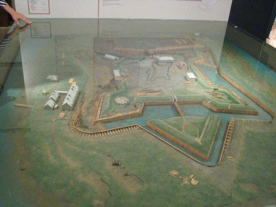 Lieu historique national du Fort-Lennox : Model of Fort-Lennox.