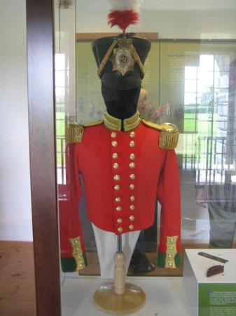 Lieu historique national du Fort-Lennox : British officer`s uniform.