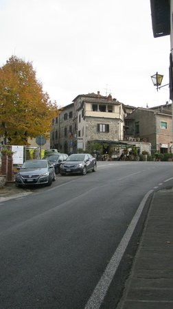 Relais Vignale:                   A view from the hotel down the street