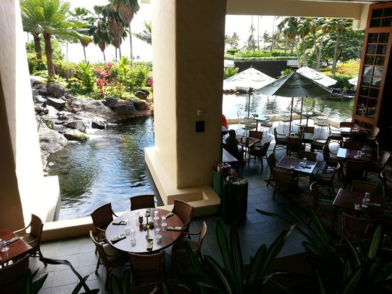 Ilima Terrace Restaurant :                   View from top of stairs entering restaurant