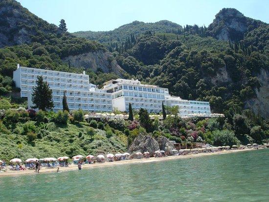 Sensimar Agios Gordios :                   View from the Beach