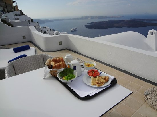 Astra Suites:                   Example of breakfast