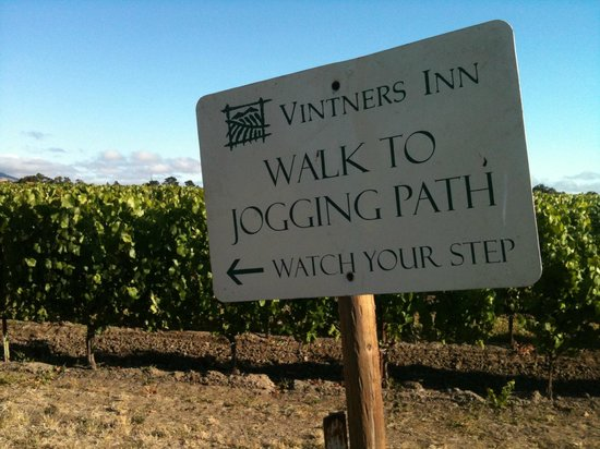 Vintners Inn :                   best sign ever after running a half marathon the day before !