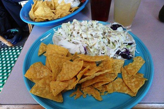 Agua Verde Cafe: Fish Tacos