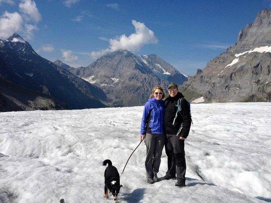 The Hayloft:                   Days walk on glacier