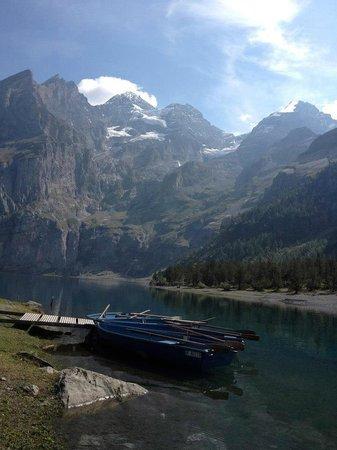 The Hayloft:                   Lake near Kandersteg