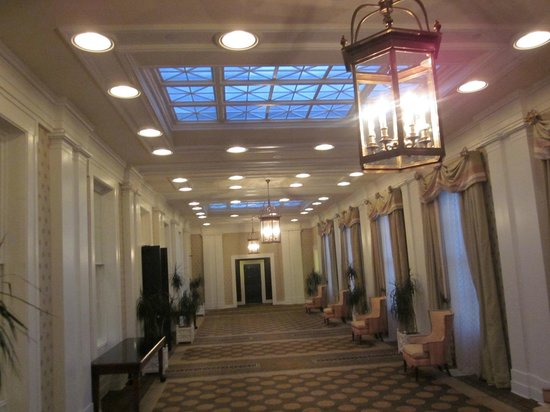Omni Bedford Springs Resort:                   Beautiful hallways ...