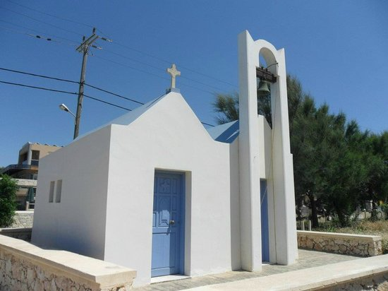 Ledra Maleme:                   church on the beach front