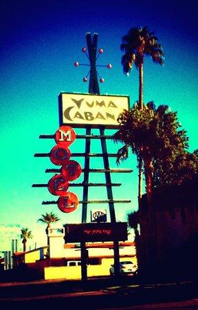 Yuma Cabana Motel:                   Nice mid-century sign