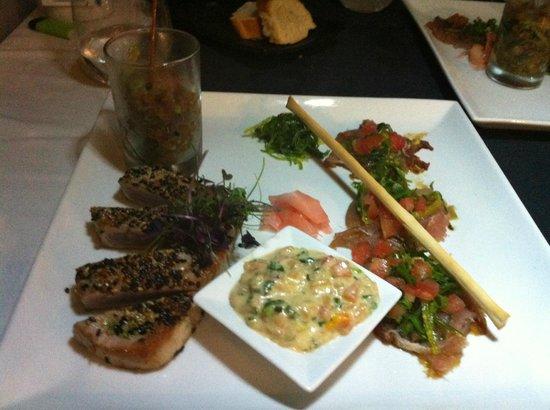 L'Effet Mer:                   le fameux thon en 3 services ...