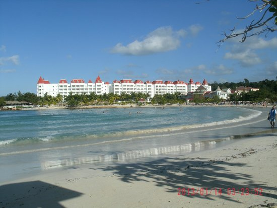 Grand Bahia Principe Jamaica:                                     Beach area and small section of the resort