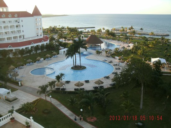 Grand Bahia Principe Jamaica:                                     small section of pool.  view from our room
