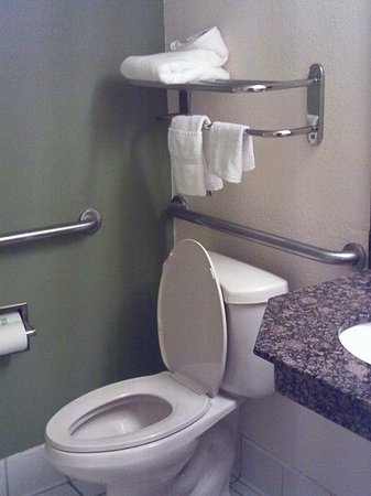 Sleep Inn:                                     All towels hanging directly over open toilet