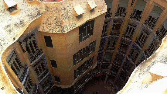 Inside a courtyard of the Casa Mila - Picture of La ...