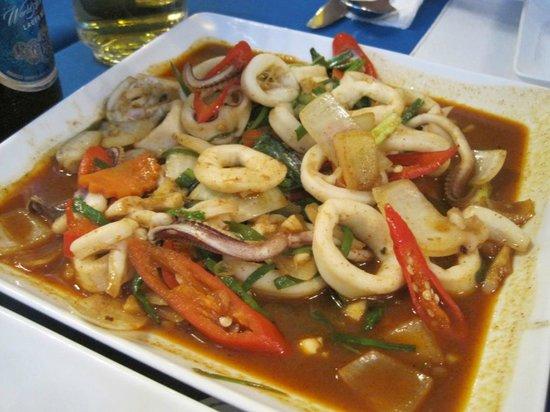 Oasis Restaurant:                   spicy squid