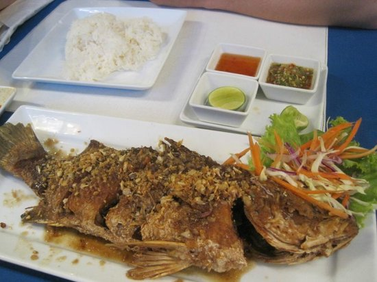 Oasis Restaurant:                   whole snapper