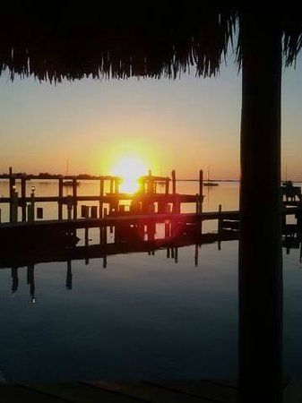 Sunset Cove Beach Resort:                   This is an every night sunset fro ta beach cabanna