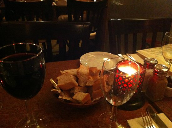 Bistro 1 - Frith Street: Table in the restaurant - nice and cosy :0)